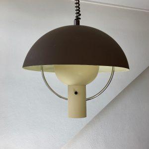 vintage Dijkstra Lampen space age 70's pendent light - rare Aluminium mushroom lamp